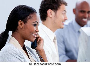parlare, th, affari, lavorativo, squadra