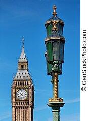 parlement, ben, horloge, grand, -, maisons, royaume-uni, tour, londres