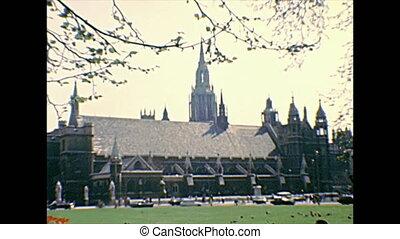 parlement, ben, jardin, grand, carrée, londres