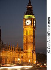 parlement, ben, maisons, grand, westminster, royaume-uni, londres