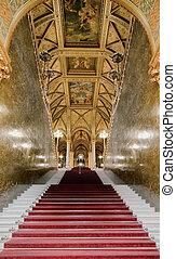 parlement, escalier, grandiose