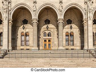parlement, porte, hongrois