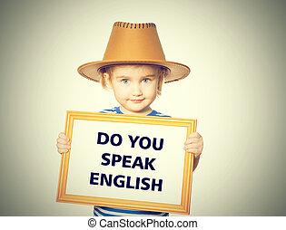 parler, english., texte, vous
