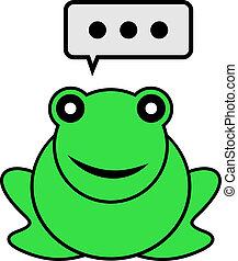 parler, grenouille