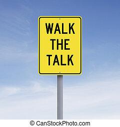 parler, promenade