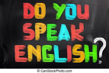 parler, vous, concept, anglaise