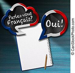 Parlez-vous Francais - Speech Bubbles