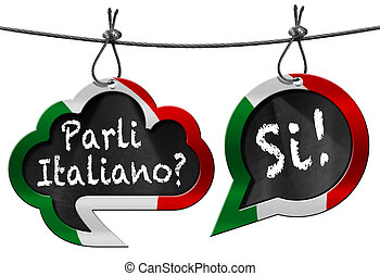 Parli Italiano - Speech Bubbles - Two speech bubbles with ...