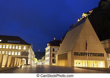 Parliament building evening time