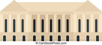 Parliament building icon, flat style - Parliament building...