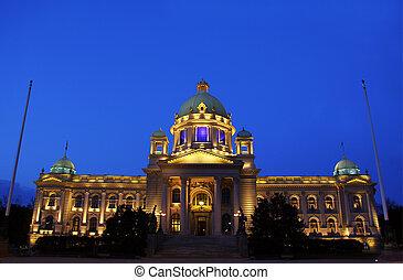 Belgrade, Serbia - Parliament building in Belgrade, Serbia