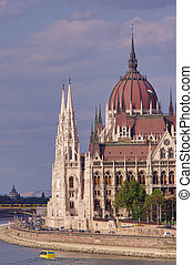 Parliament building in Budapest city. Hungary