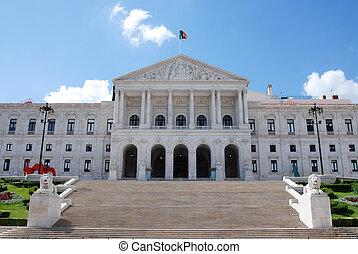 Parliament building in Lisbon