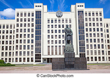 Parliament building in Minsk. Belarus - Parliament building...