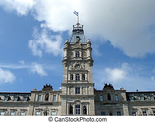 Parliament building in Quebec City, Canada - Close up on the...