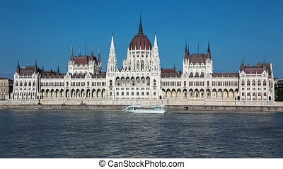 Parliament Building on Danube river