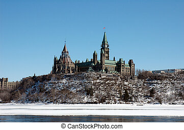 Parliament Buildings - horizontal on hilltop