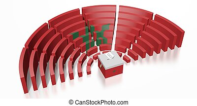 Parliament election in Morocco - 3D rendering
