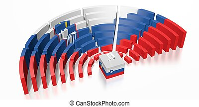Parliament election in Slovenia - 3D rendering