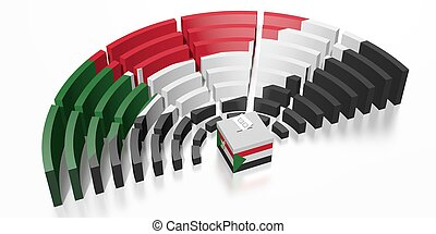 Parliament election in Sudan - 3D rendering