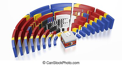 Parliament election in Swaziland - 3D rendering
