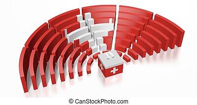 Parliament election in Switzerland - 3D rendering