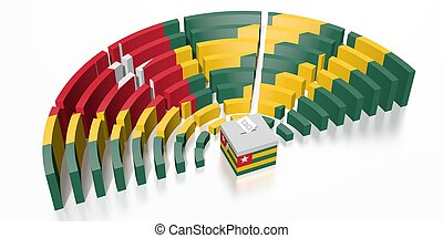 Parliament election in Togo - 3D rendering