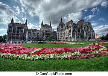 Parliament garden, Budapest