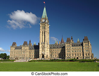 Parliament Hill - A view of Canada\'s parliament hill in...