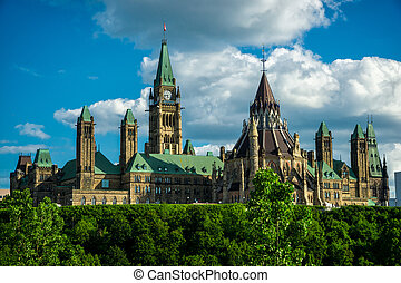Parliament Hill From the Back - Image of Canada's Parliament...