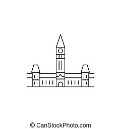 Parliament hill icon, outline style