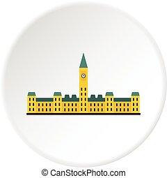 Parliament Hill, Ottawa icon circle