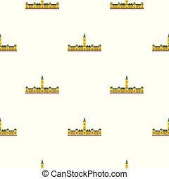 Parliament Hill, Ottawa pattern seamless