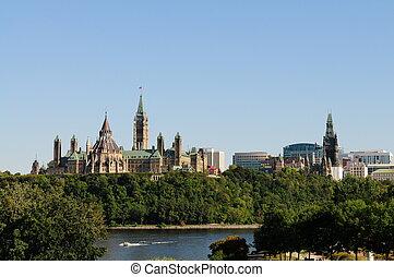 Parliament hill - Overlook Parliament hill in Ottawa Canada