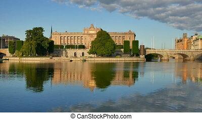 Parliament House in Stockholm Sweden