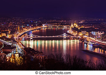 Parliament in Budapest Hungary - cityscape architecture...