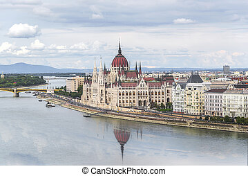 Parliament of Hungary in Budapest.