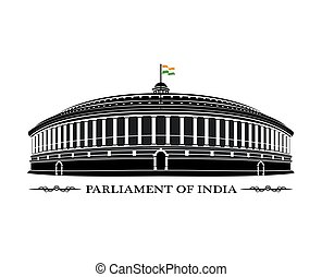An illustration of Indian Parliament building
