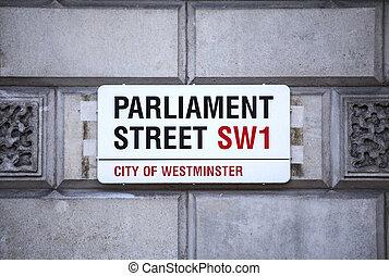 Parliament Street in London
