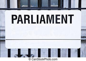 Parliament Street Sign, Westminster; London