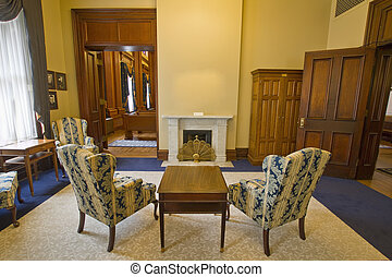 Parlor in Old Historic Building