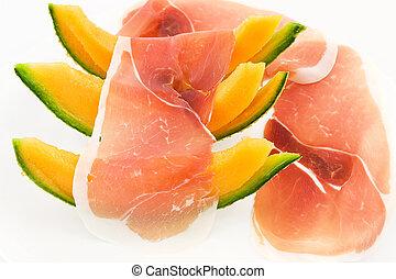 Parma ham and melon - fresh summer ham and melon
