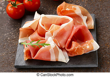 parma ham (jamon) traditional Italian meat specialties
