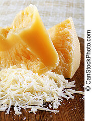 Parmesan cheese - Dairy product parmesan cheese broken ...
