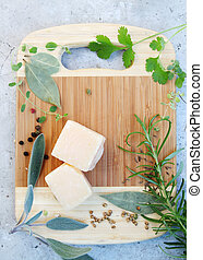 Parmesan cheese, top view