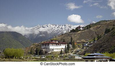 Paro Dzong Buddhist Monastery in the Kingdom of Bhutan.