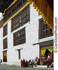 paro, tsechu, -, königreich, von, bhutan