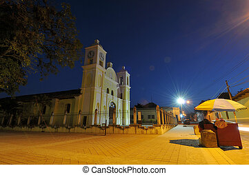 Picture of the church of San Marcos in Gracias at night