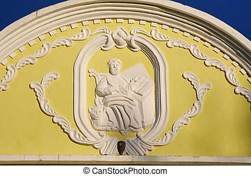 Picture of the relief of San Marco in Gracias