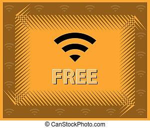 parola accesso, concetto, disegno, libero, wifi